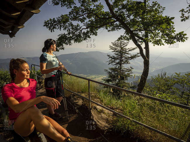 June 27, 2019: Hiking on the second valley trail, rest at the Thomashutte, Kandel