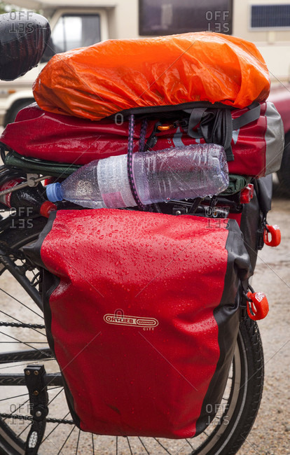 July 18, 2017: Bicycle, bike tour, luggage, parking