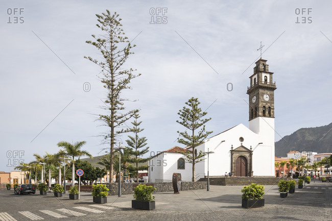 January 29, 2020: The church Iglesia Nuestra Senora de Los Remedios, Buenavista del Norte, Tenerife, Canary Islands, Spain