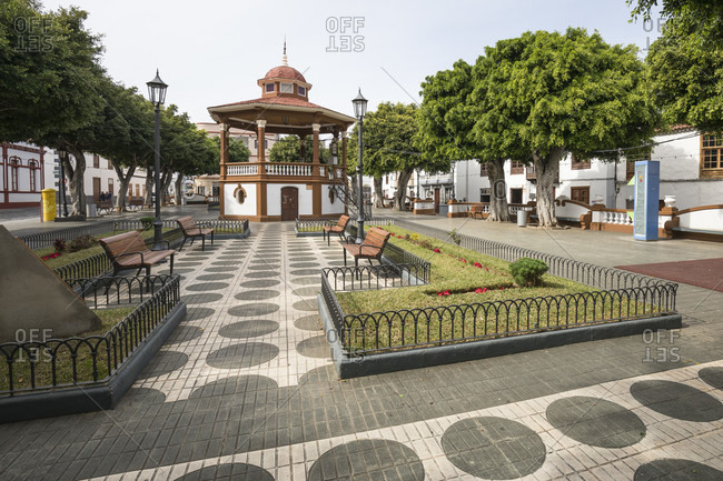 January 29, 2020: Plaza De La Luz in Los Silos, Tenerife, Canary Islands, Spain