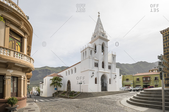 January 29, 2020: Parish Church of Nuestra Senora de la Luz in Los Silos, Tenerife, Canary Islands, Spain