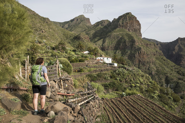 January 29, 2020: Hike in the Teno Mountains to the mountain village of Masca, Tenerife, Canary Islands, Spain