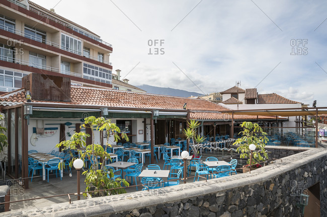 January 27, 2020: La Cofradia restaurant in Puerto de la Cruz, Tenerife, Canary Islands, Spain