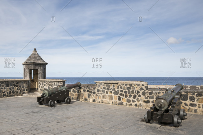January 27, 2020: Fortification of Bateria de Santa Barbara, Puerto de la Cruz, Tenerife, Canary Islands, Spain