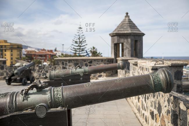 January 27, 2020: Fortification of Bateria de Santa Barbara, Puerto de la Cruz, Tenerife, Canary Islands, Spain