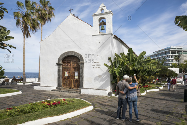 January 27, 2020: Chapel of San Telmo, Puerto de la Cruz, Tenerife, Canary Islands, Spain