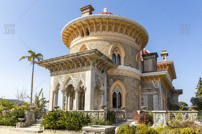 February 21, 2019: The Palacio de Monserrate is a villa in the Portuguese town of Sintra.