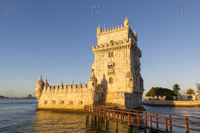 February 11, 2019: The Torre de Belem in the Belem district at the mouth of the Tejo is one of the most famous landmarks in Lisbon