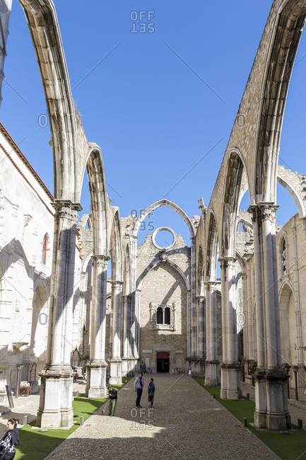 February 11, 2019: The Convento do Carmo is a former monastery of the Carmelite order in the Portuguese capital Lisbon