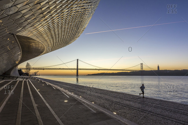 February 11, 2019: MAAT, Museu de Arte, Arquitetura e Tecnologia. The Museum of Art, Architecture and Technology is a museum in Lisbon
