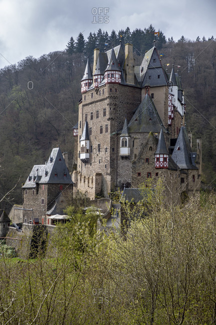 Eltz Castle is a hilltop castle from the 12th century in the valley of the Elz
