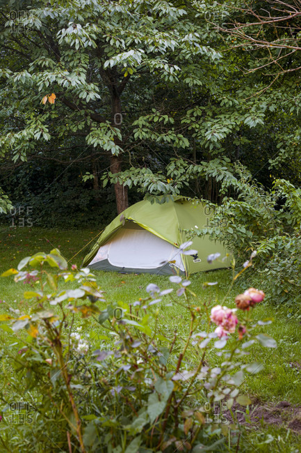 Deceleration, tent, garden, camping, Germany