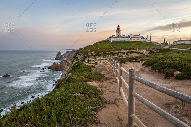 Cabo da Roca is the westernmost point on the mainland of the European continent. It is located in Portugal on the Atlantic coast