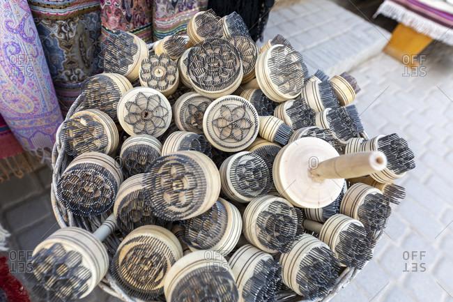 Bread stamp, souvenirs, old town, Chiva, Uzbekistan