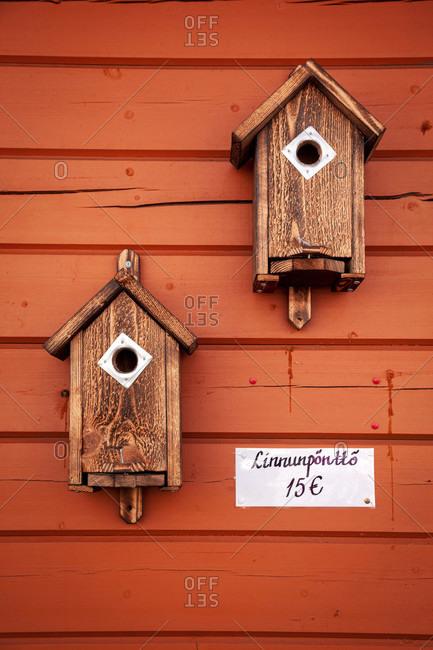 Bird house, nesting aid, nesting box, outdoor shot