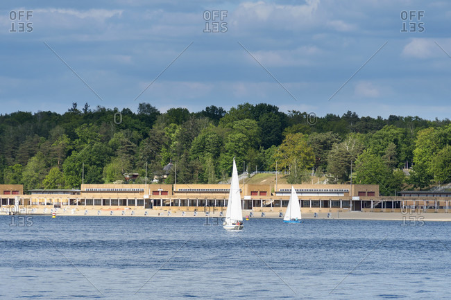 Berlin, Wannsee, listed bathing beach Wannsee, architecture of the new objectivity