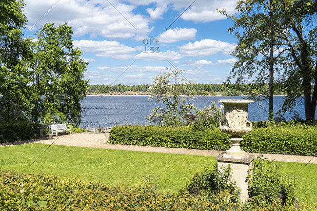 Berlin, Wannsee, House of the Wannsee Conference, garden with lake view