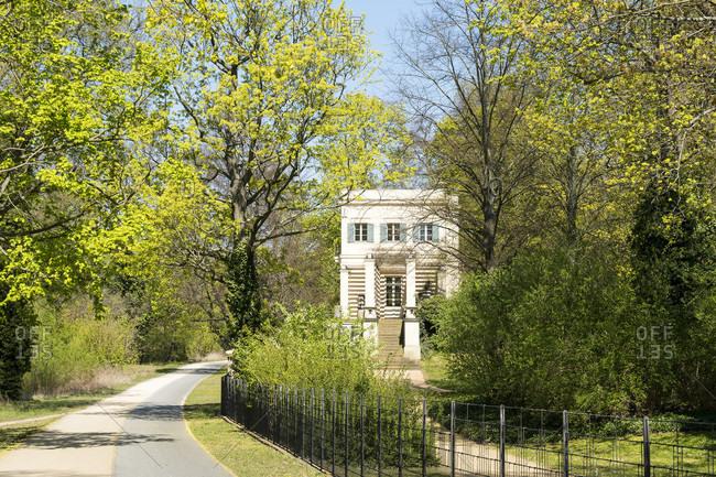 Berlin, Wannsee, Glienicke Palace, cavalier wing, wall path