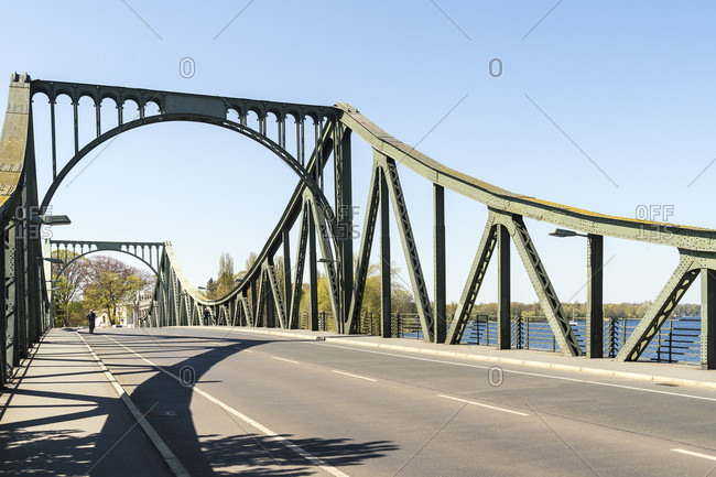 Berlin, Wannsee, Glienicke Bridge without cars