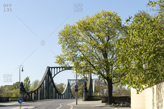 Berlin, Wannsee, Glienicke Bridge in spring