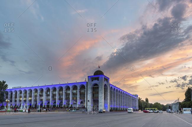 August 9, 2019: Alatoo Square, Bishkek, Kyrgyzstan
