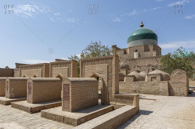 August 27, 2019: Pachlavan Machmud complex, old town, Chiva, Uzbekistan