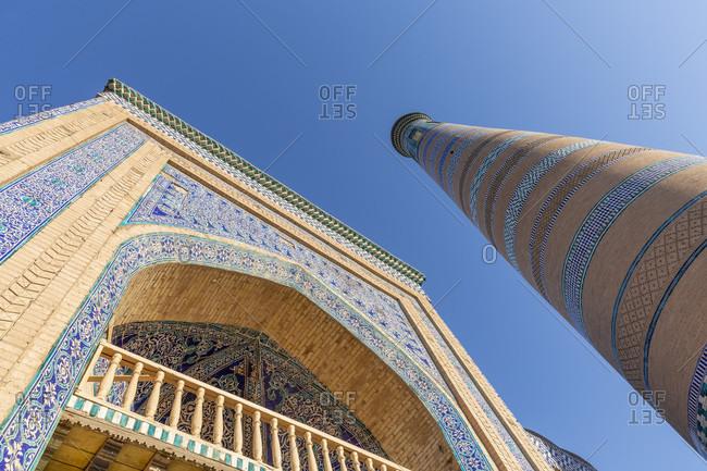 August 26, 2019: Islam Khodja minaret, Chiva, Uzbekistan