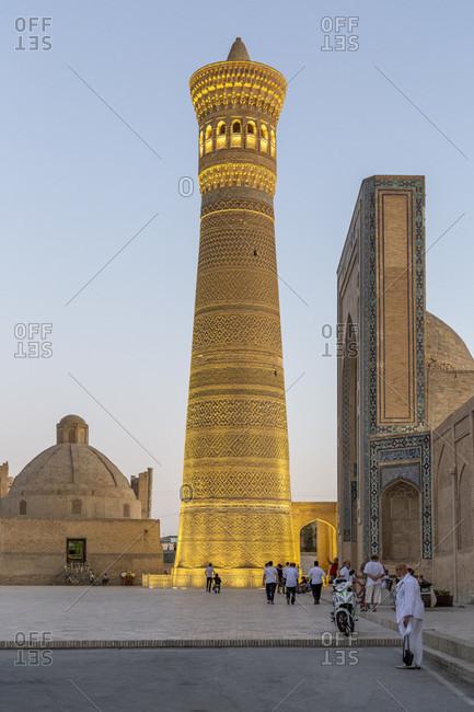 August 23, 2019: Poikalon complex, Kalon minaret, Bukhara, Uzbekistan