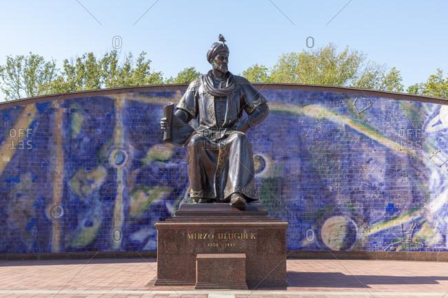 August 23, 2019: Mirzo Ulugbek, Monument, Samarkand, Uzbekistan