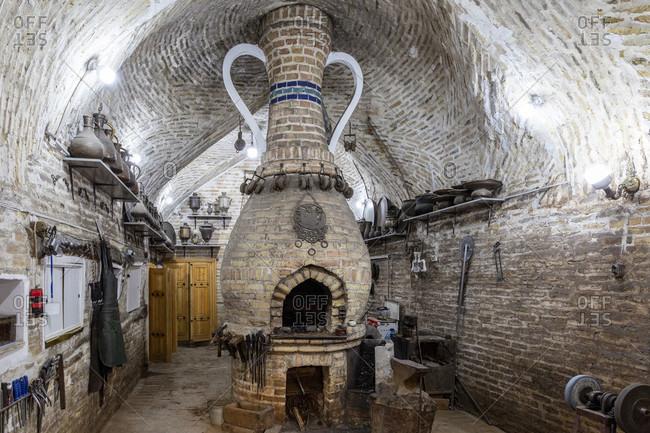 August 23, 2019: Blacksmiths, Bukhara, Uzbekistan