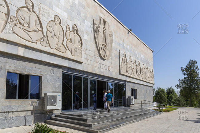 August 23, 2019: Afrosiab Museum, Samarkand