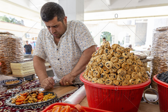 August 22, 2019: Siab Bazaar, Samarkand, Uzbekistan