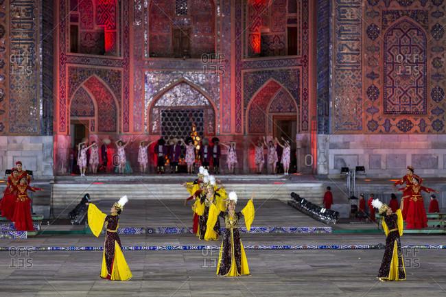 August 22, 2019: International Folklore Festival, Registan Square, Uzbekistan