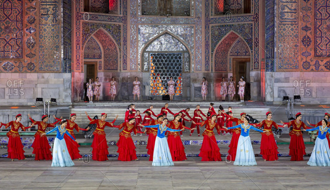 August 22, 2019: International Folklore Festival, Registan Square, Uzbekistan