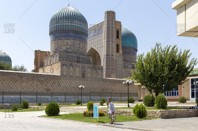 August 22, 2019: Bibi Chanum Mosque, Samarkand, Uzbekistan