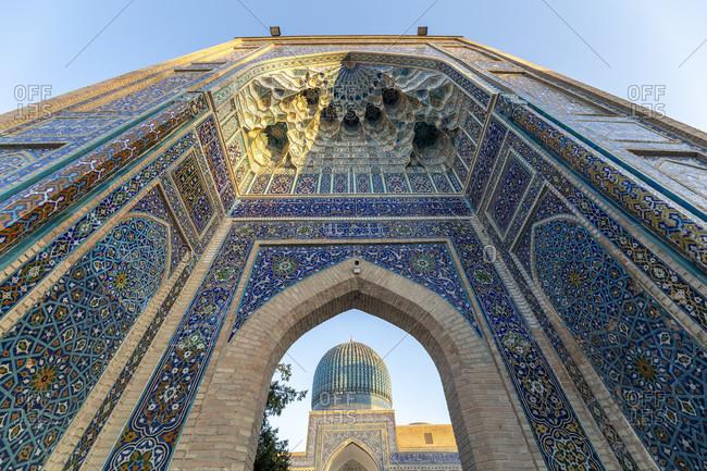 August 21, 2019: Gur Emir Mausoleum, Amir Temur Mausoleum, Samarkand, Uzbekistan