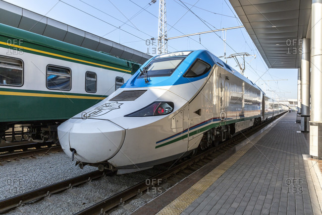 August 21, 2019: Fast train to Samarkand, Uzbekistan