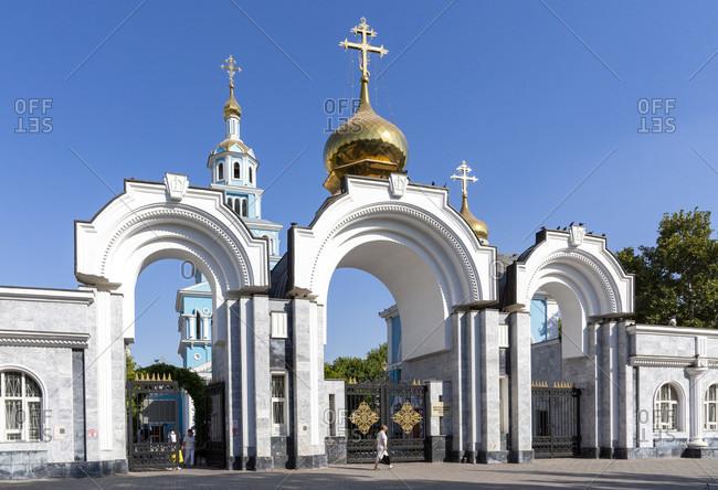 August 20, 2019: Cathedral of the Assumption of the Virgin, Russian Orthodox Church, Tashkent, Uzbekistan