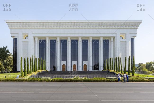 August 19, 2019: Dvorets Mezhdunarodnykh Forumov, Palace of international Forums, Amir Timur Square, Tashkent, Uzbekistan