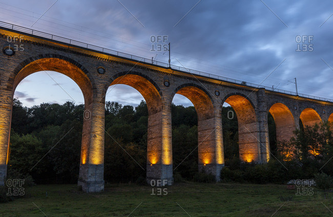 Altenbekener Viaduct, Altenbeken at night