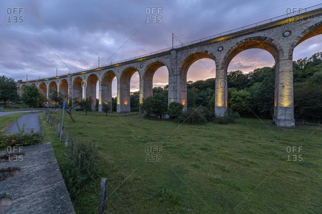 Altenbekener Viaduct, Altenbeken at night