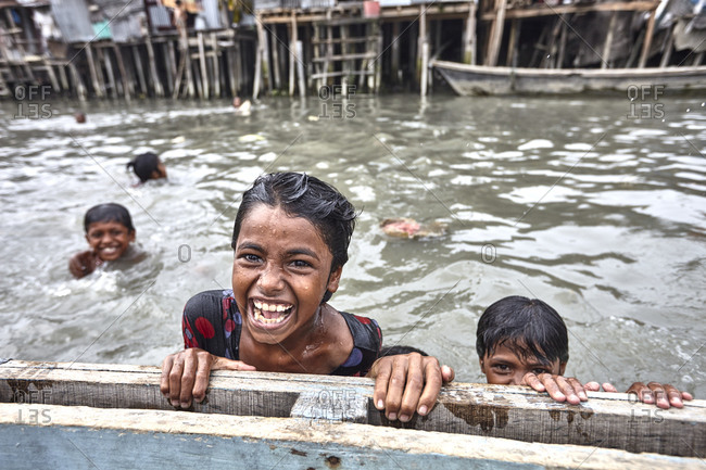 May 14, 2013: Slum area in Barisal, Bangladesh; The slums lack basic infrastructure and services and are in the constant threat of eviction. Because these are usually situated in fragile low lying areas, the urban poor living are highly vulnerable to natural disaster.