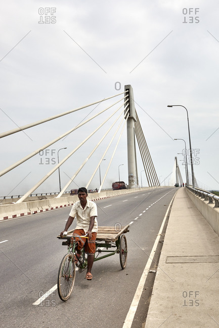 May 13, 2013: Shah Amanat Bridge over River Karnaphuli, Chittagong, Bangladesh;  Shah Amanat Bridge, the third constructed across the Karnaphuli River in Bangladesh, is the first major extra-dosed bridge in the country. It is located along country's busiest national highway N1. Karnaphuli (Karnafuli) is the largest and most important river in Chittagong and the Chittagong Hill Tracts.