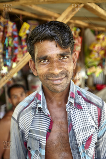 May 14, 2013: Rural Bangladesh; Portrait of a bengali man from a village in rural Bangladesh. Bengalis or Bengali people are an Indo-Aryan ethnolinguistic group.
