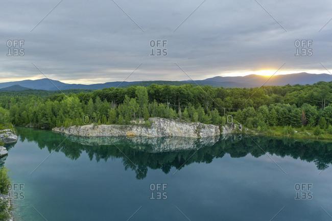 Abandoned quarry in Brandon, Vermont