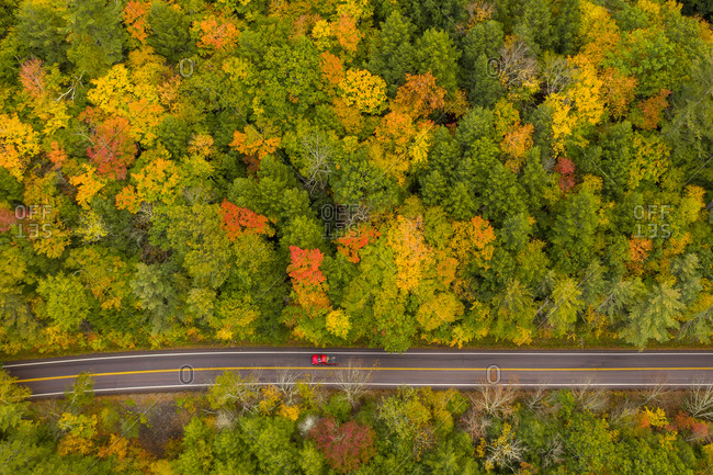 Fall colors along Route 125 in East Middlebury, Vermont