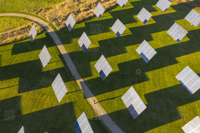 Solar panels in a field in Middlebury, Vermont