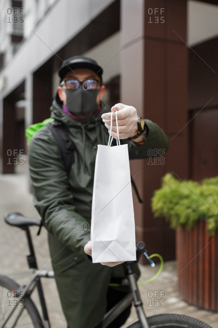 Courier delivery service during covid-19 in Penza, Russia