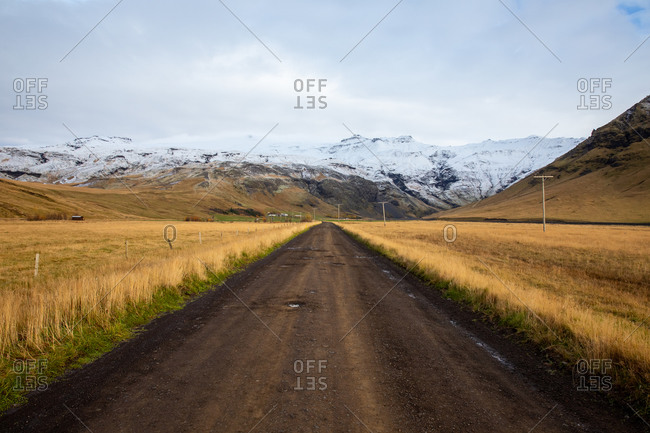 Rural access road in south iceland