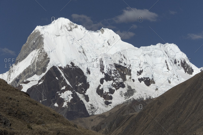 View of yerupaja from the huayhuash circuit.
